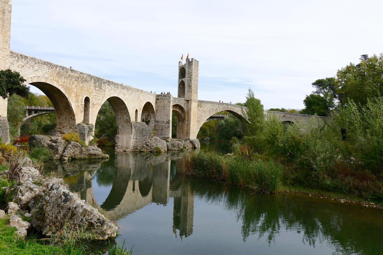 The bridge leading into Besalú, Garrotxa