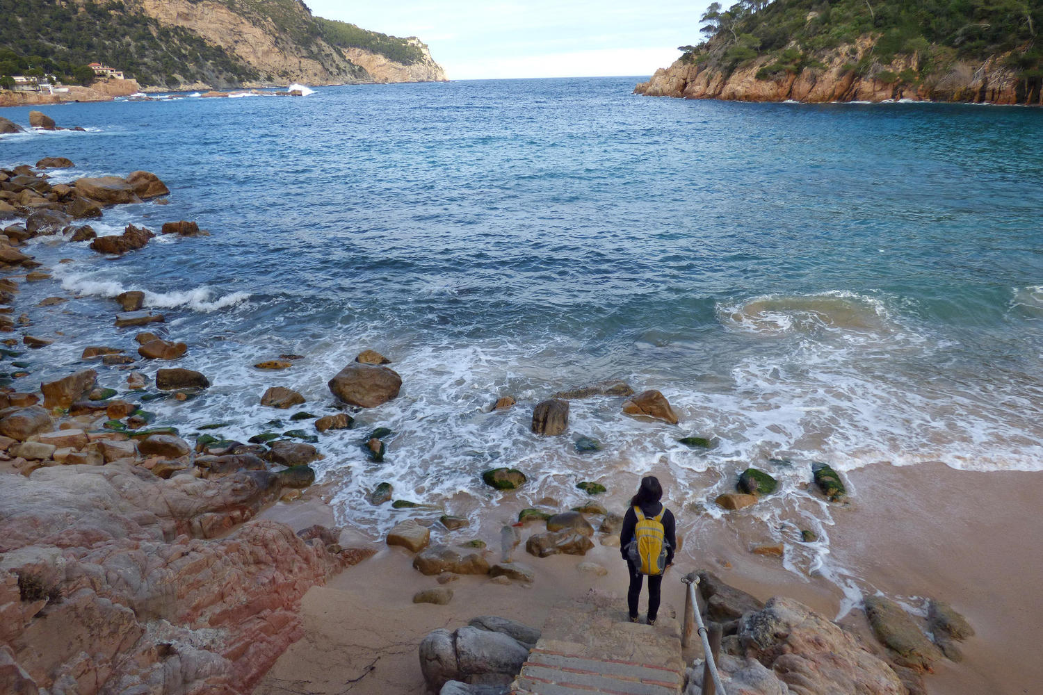 Stairway to the sea in Aiguablava, Costa Brava