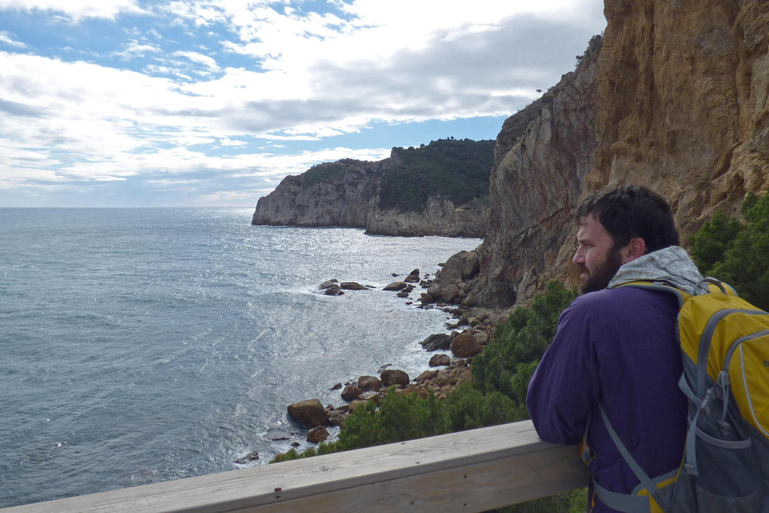 Overlooking the high cliffs of the Costa Brava
