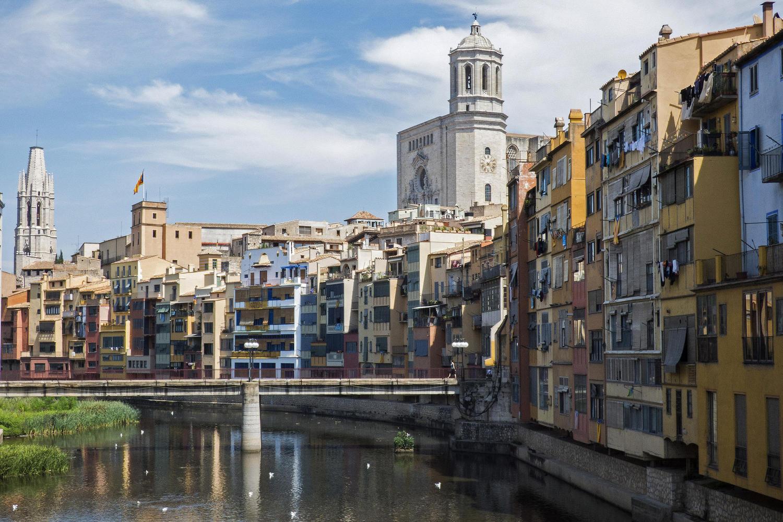 The Onyar river traversing Girona