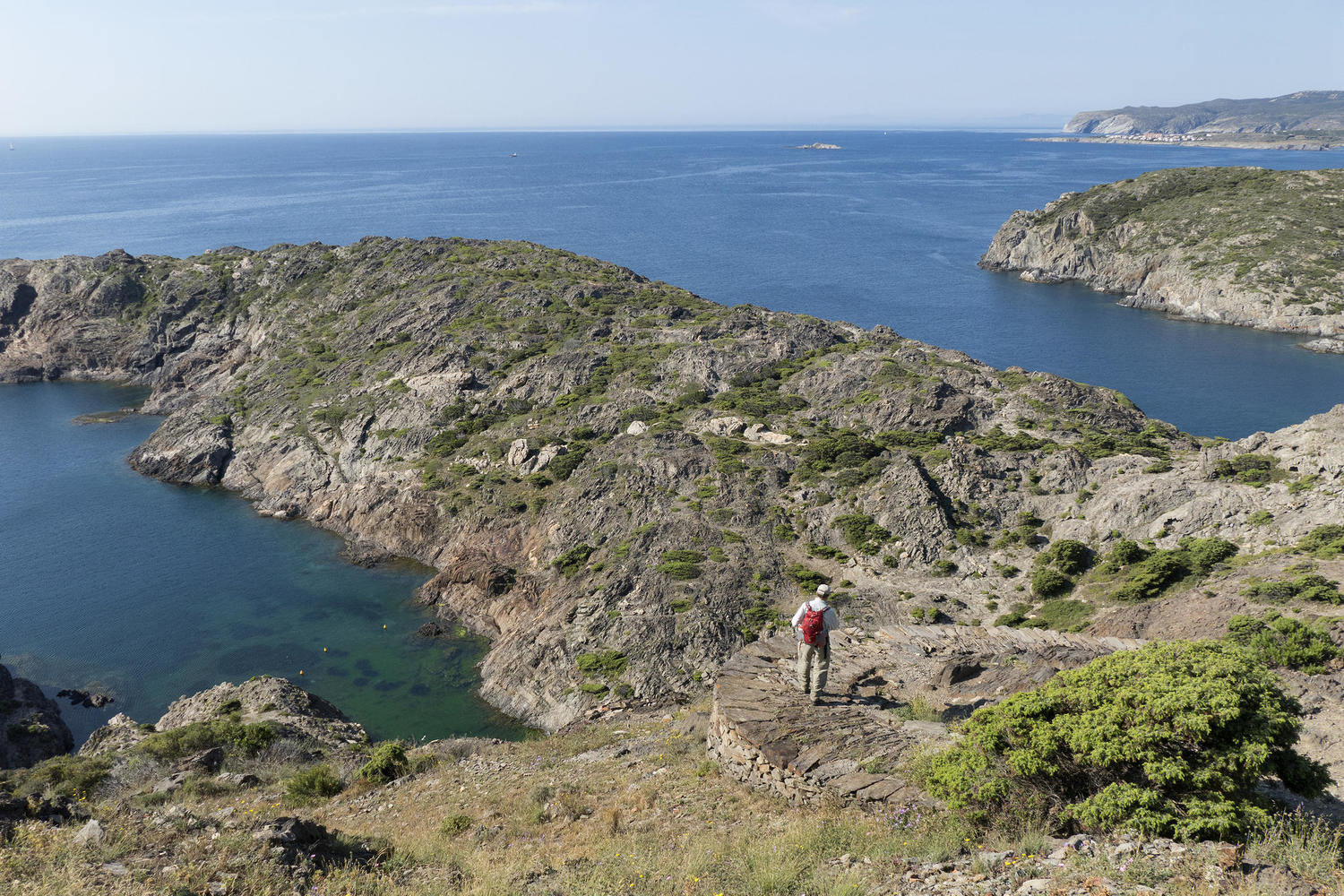 Walking in the Cap de Creus, where the Pyrenees meet the Mediterranean.