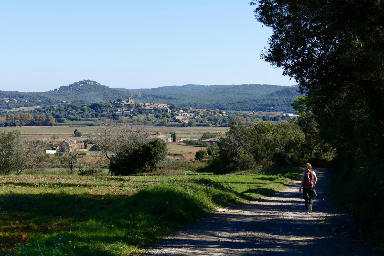 Walking towards Pals in the Empurda region of Catalonia.