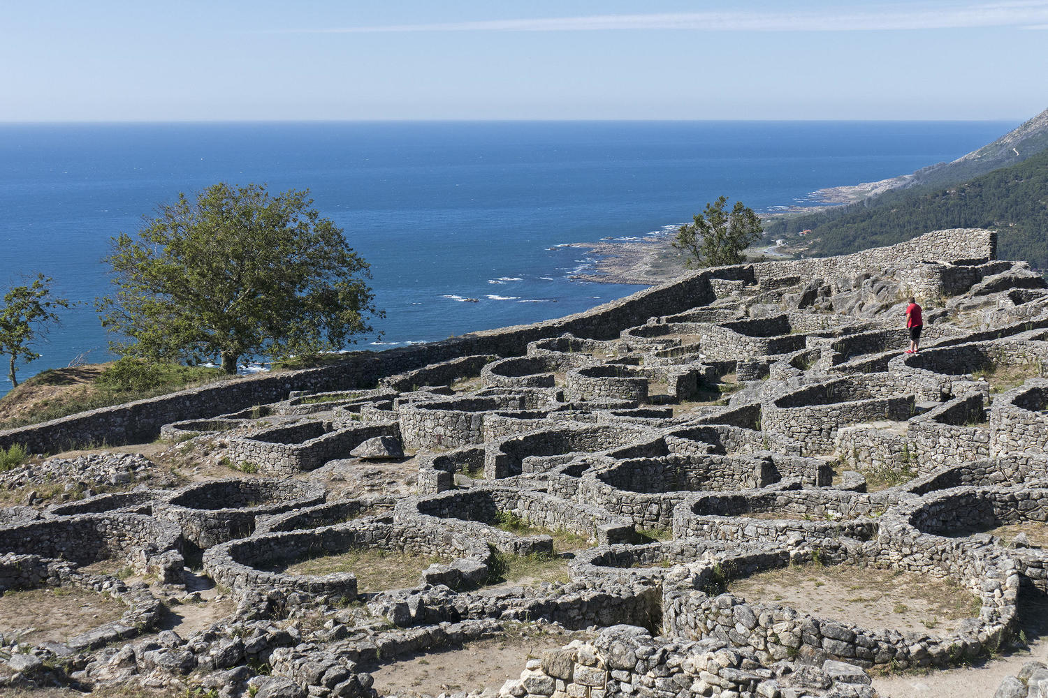 The Iron age settlement of Santa Tecla over the mouth of the Minho river and the Atlantic ocean.