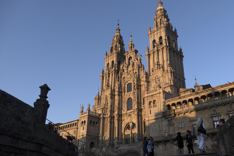 Santiago de Compostela Cathedral at sunset