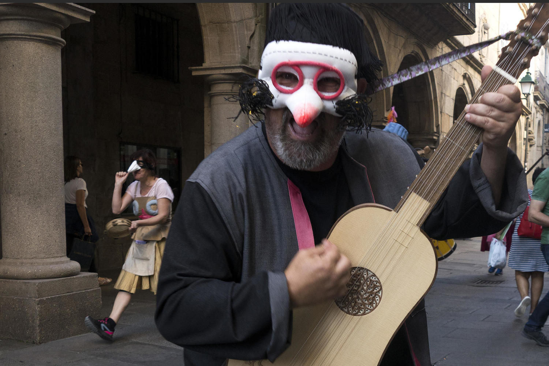 Street theatre in Santiago de Compostela