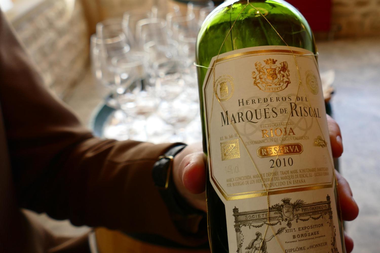 Bottle of Marques de Riscal rioja