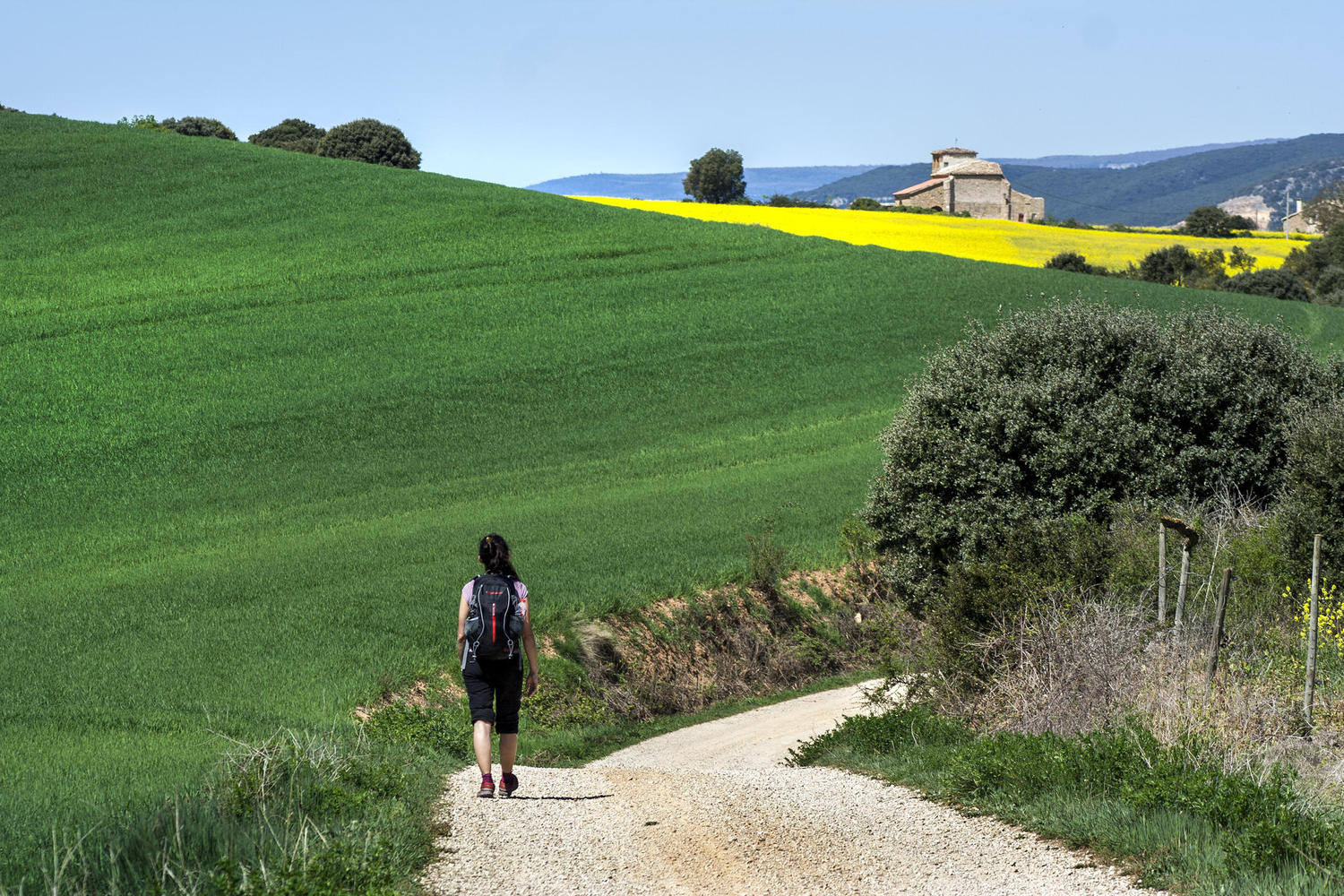 Arriving to the hamlet of Labeaga.