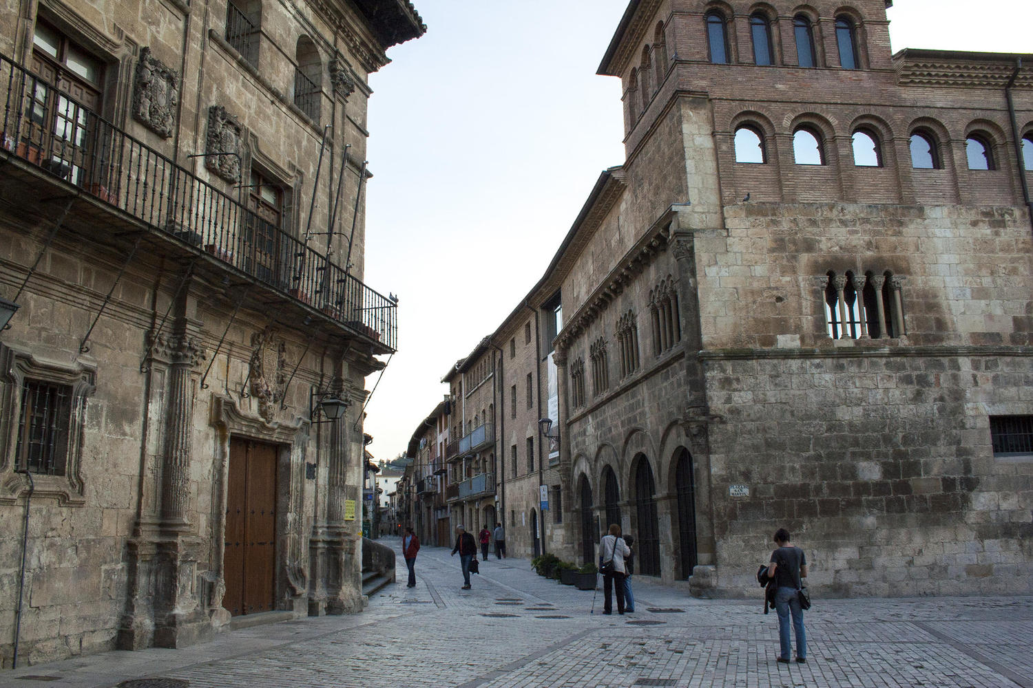 The Palace of the Kings of Navarre in Estella stands by the Camino