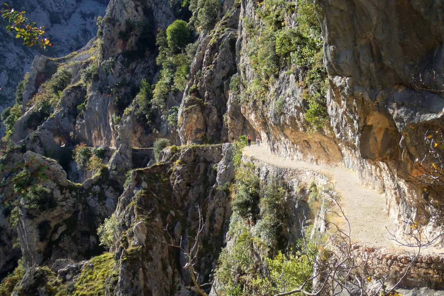 The spectacular pathway through the Cares Gorge in the Picos de Europa, Spain