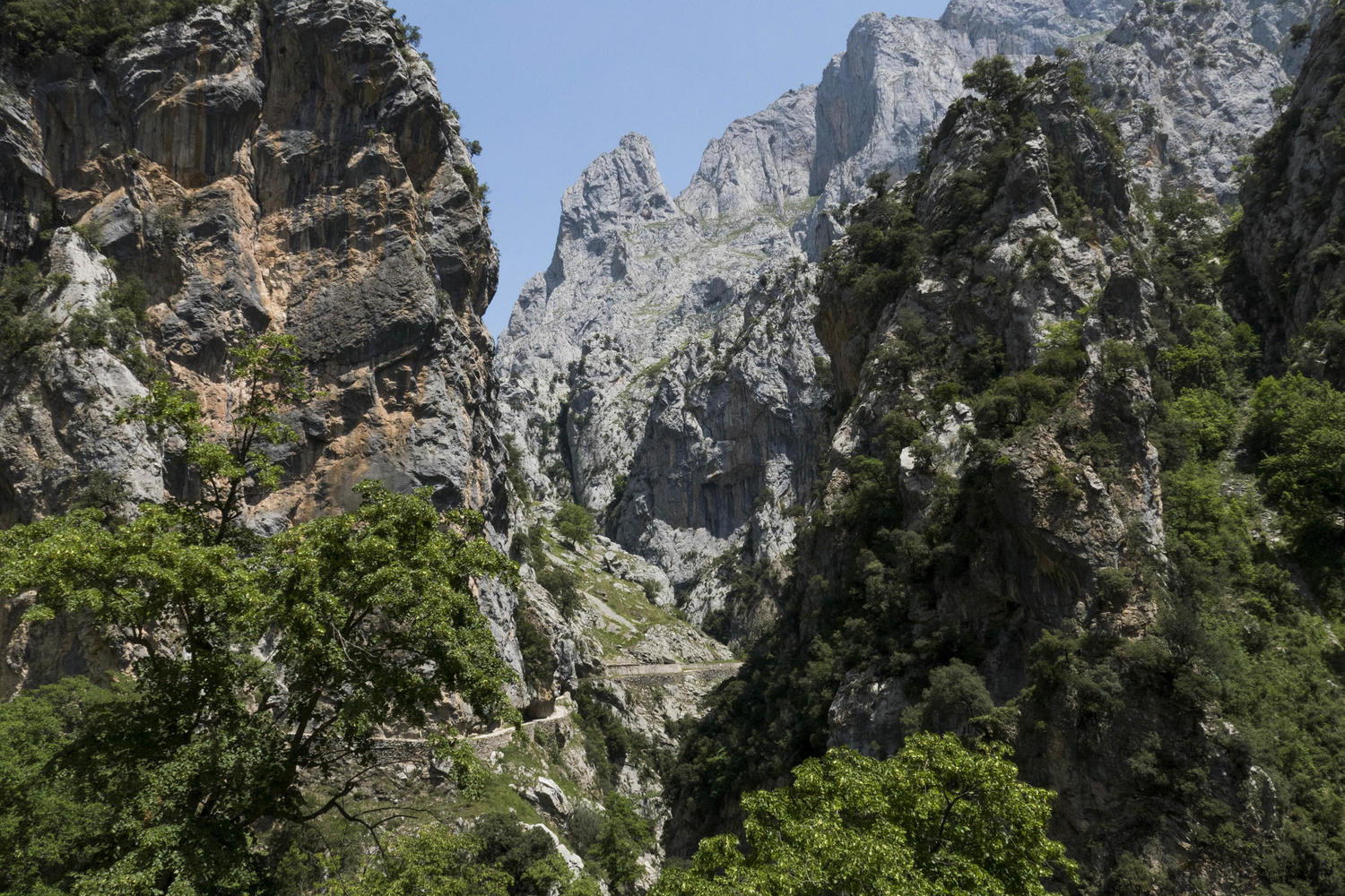 Cares gorge trail in the Picos de Europa