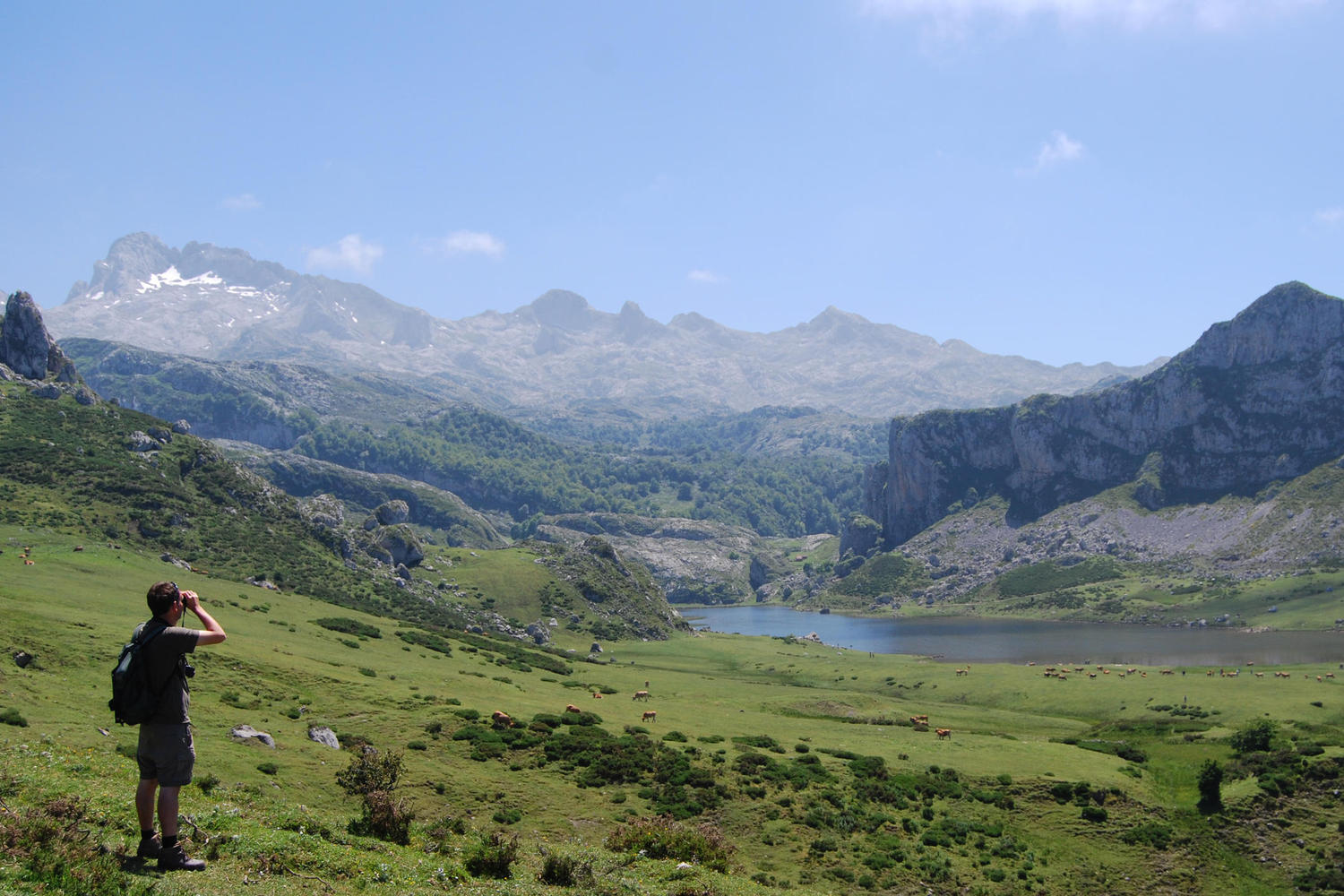 The glacial lakes of Covadonga.
