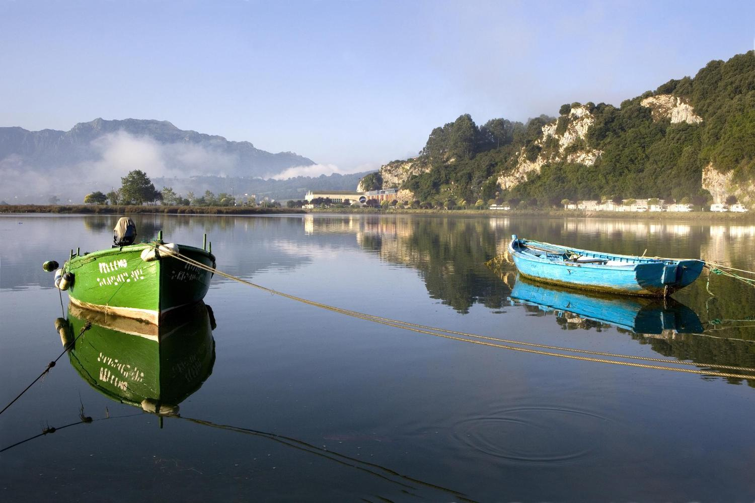 Still waters in the bay of Ribadesella