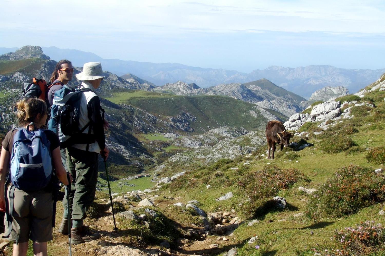 Walking in the high central Picos de Europa mountains