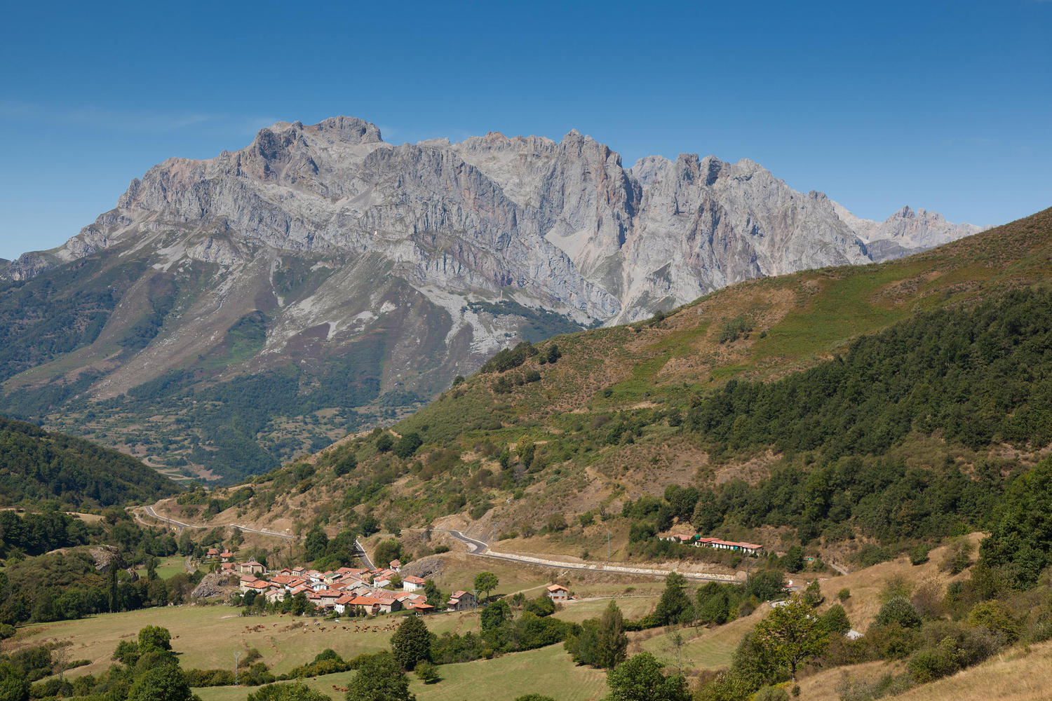 The valley of Valdeón as you walk down from the pass from Liébana valley.