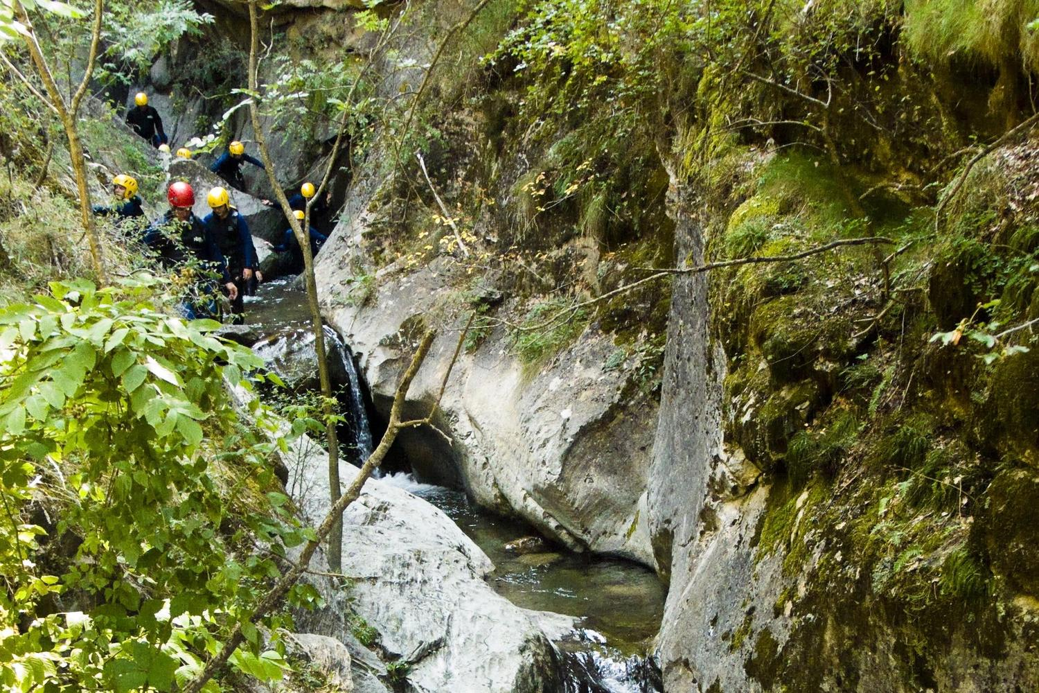 Canyoning in the high Pyrenees