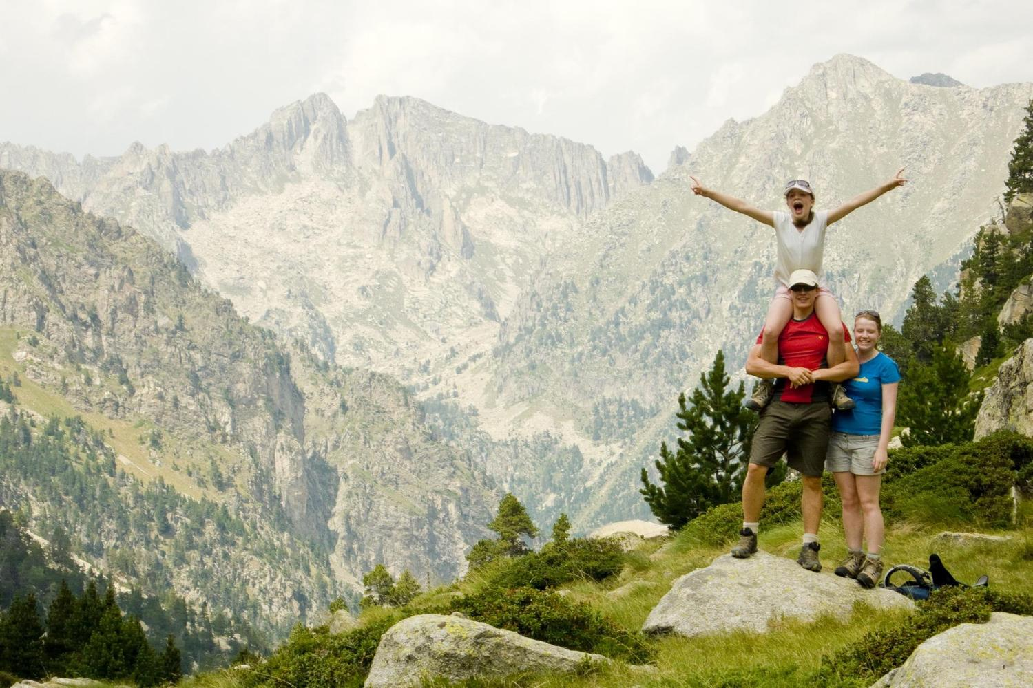 That sense of achievement at the top of the Pyrenees