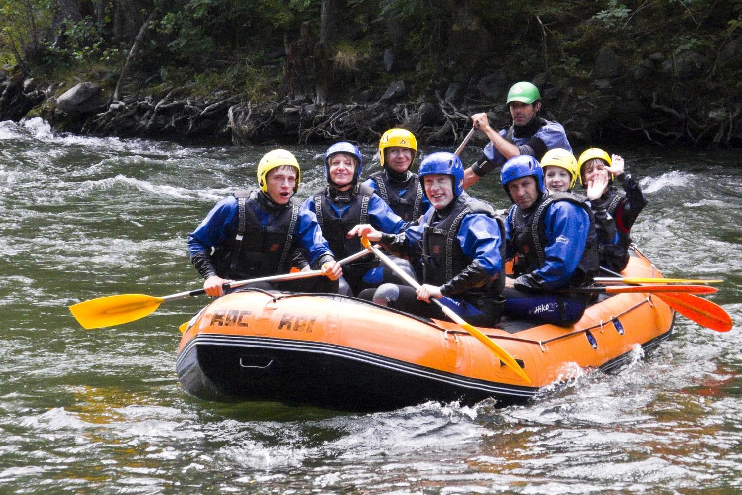 Rafting the Pallars Sobira River in the Pyrenees