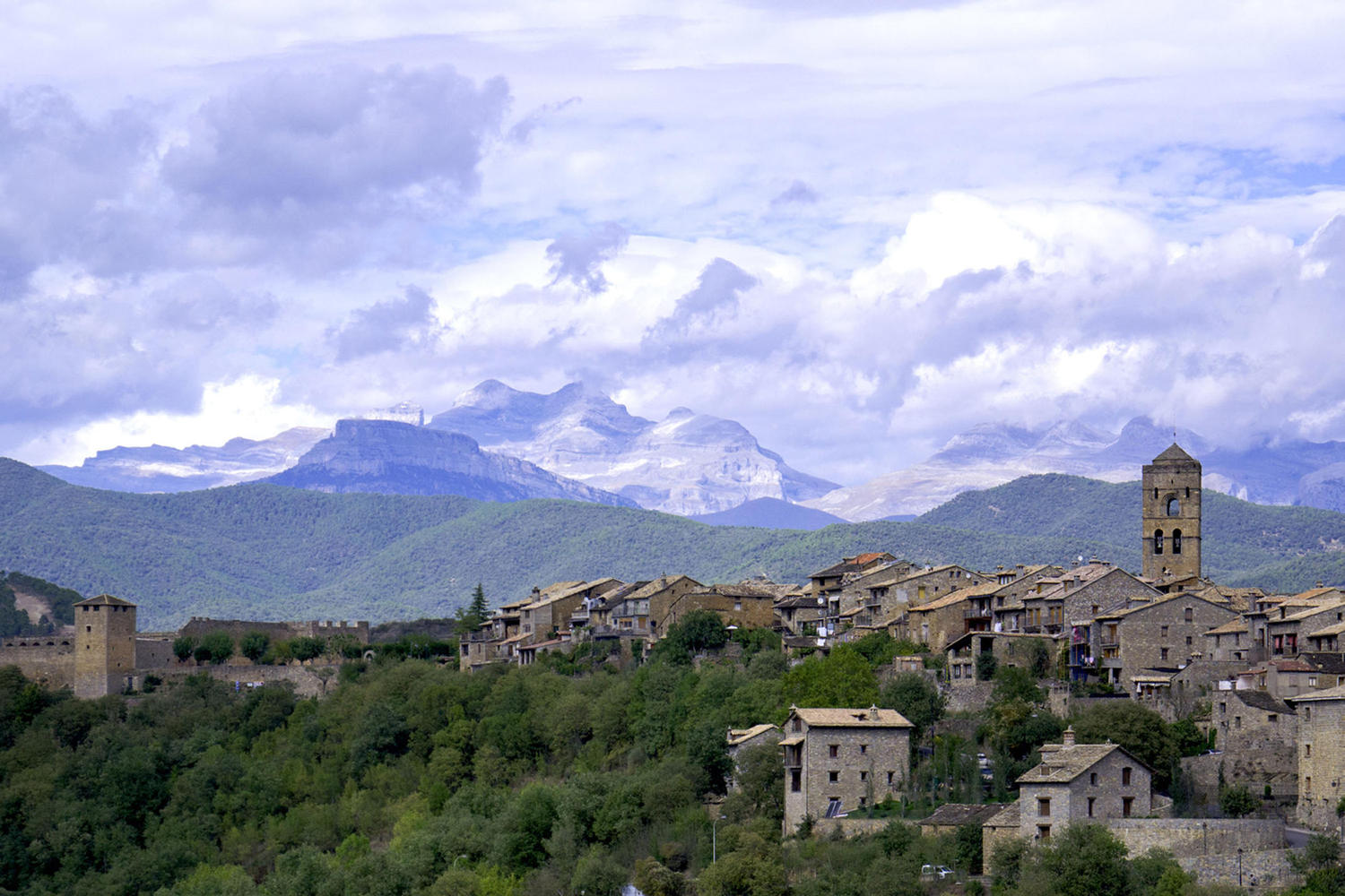 Hill top village in the foothills of the Pyrenees.