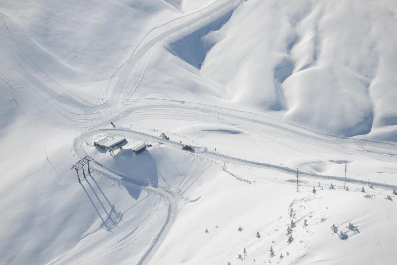 Aerial view of Cerler's slopes