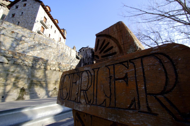 Arriving in the village of Cerler
