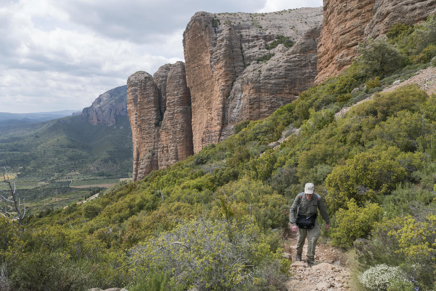 The trail known as the Path of Heaven circles the Mallos de Riglos.