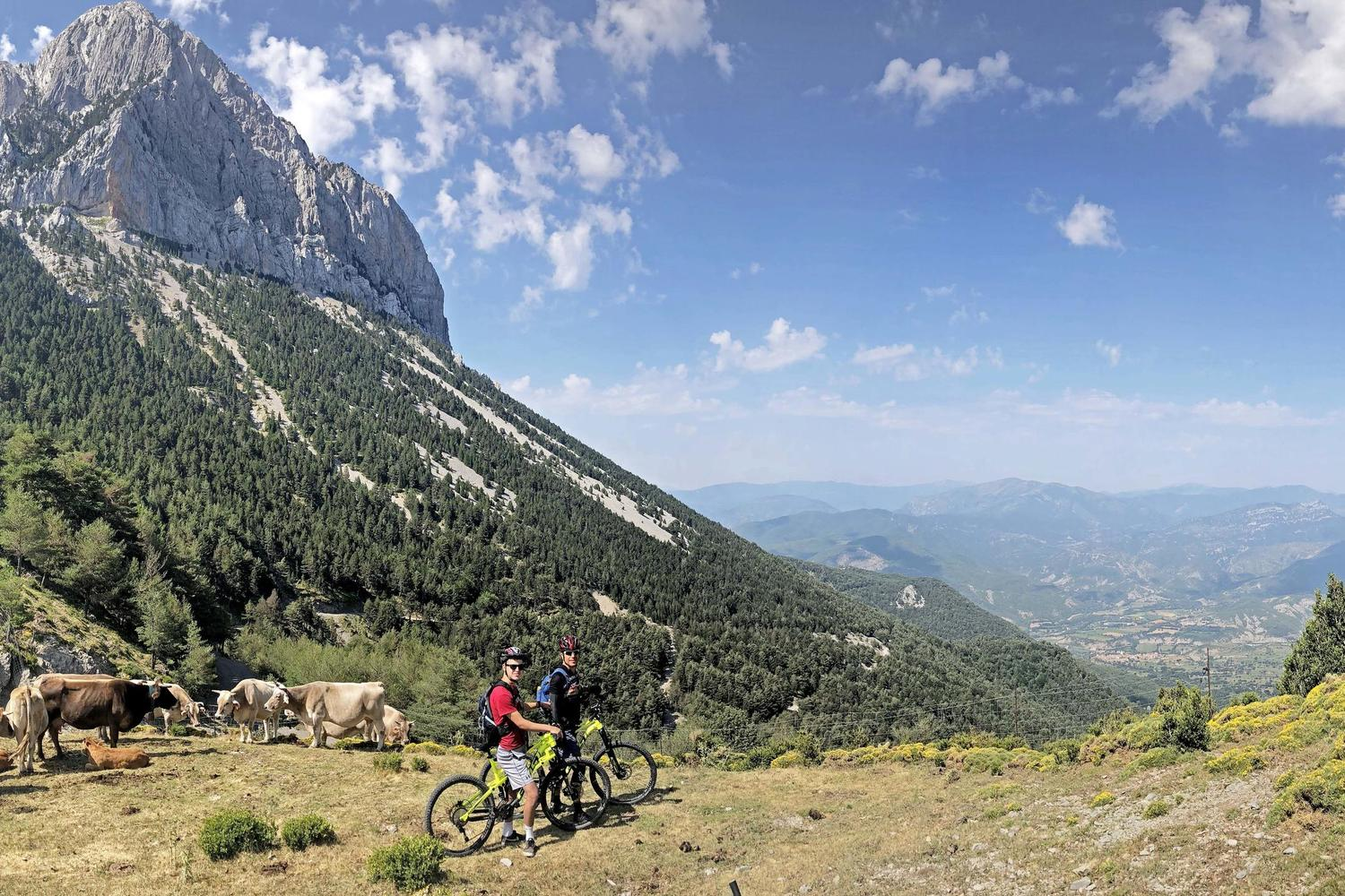Mountain biking in the Central Pyrenees