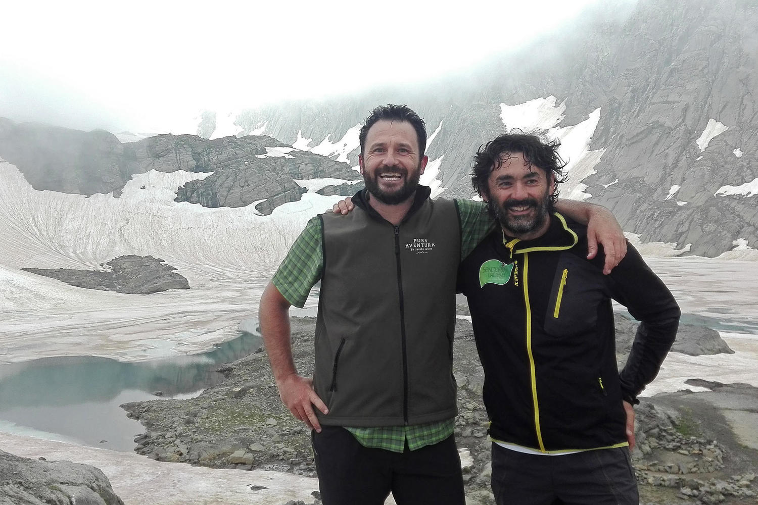 Friend and partner guide Alberto Marín with Pura Aventura´s co founder Diego Martín