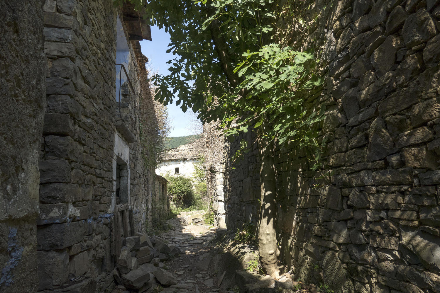 Abandoned village in Solana