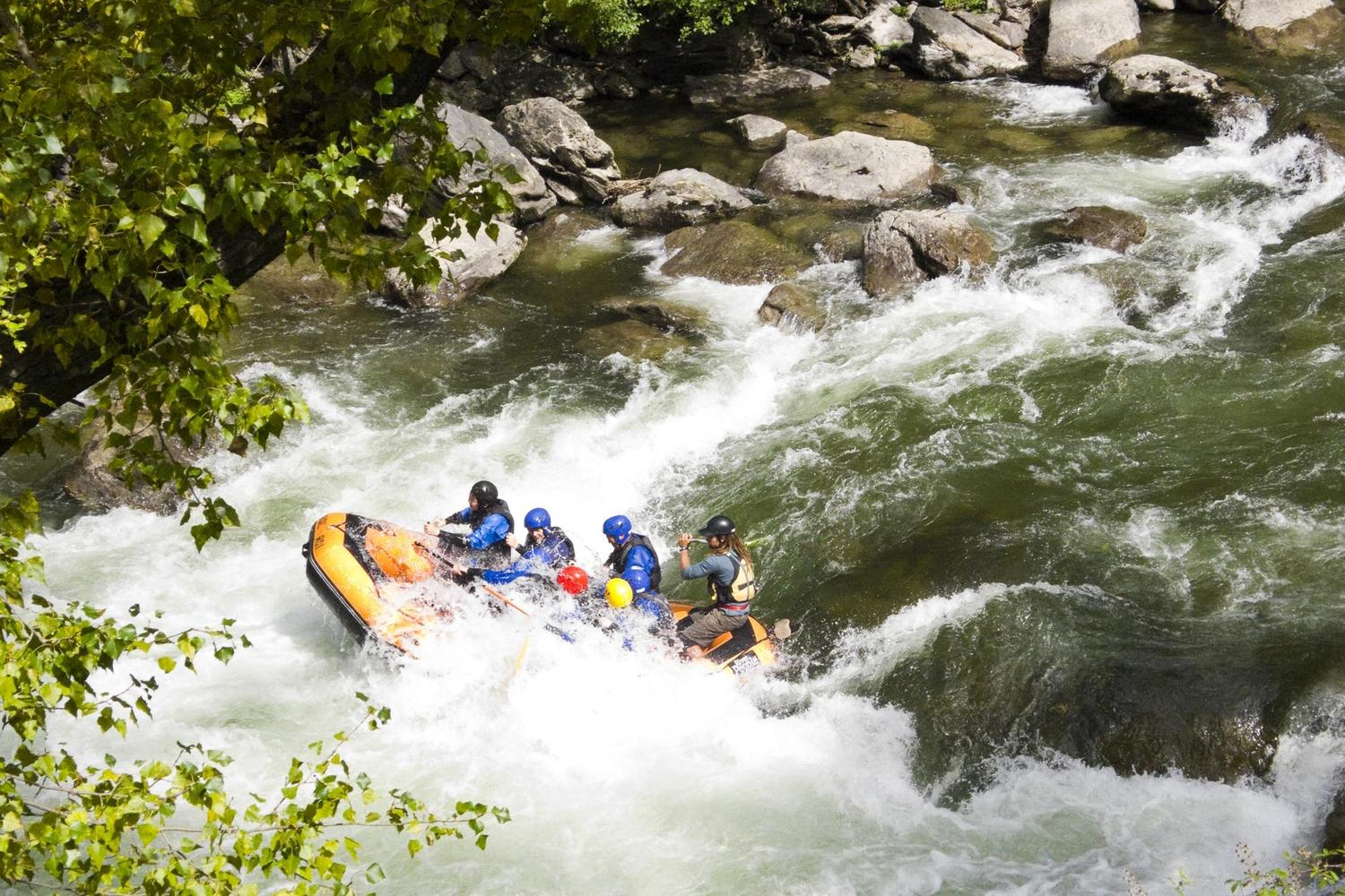 Grade III rapids on the Pallars Sobira river