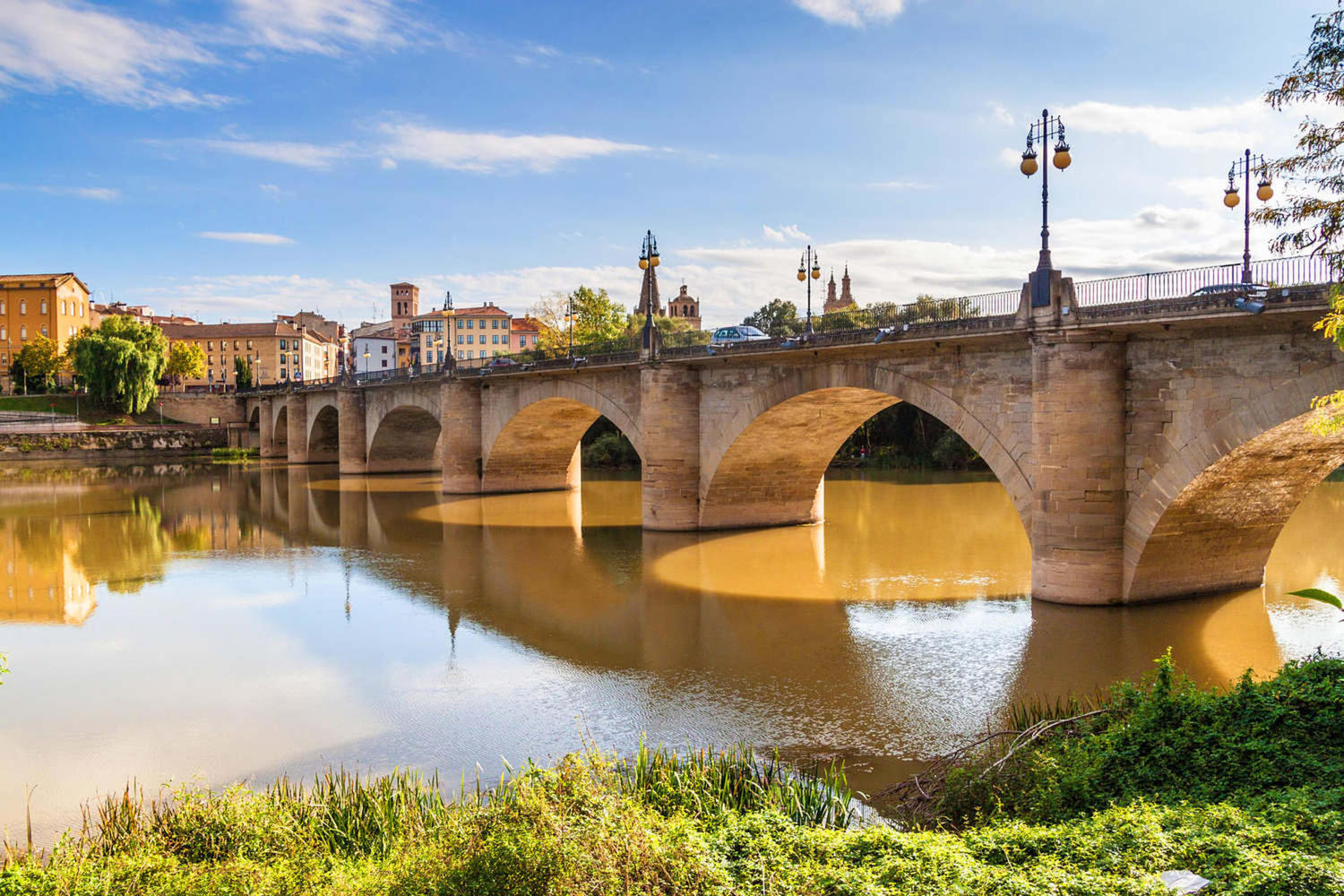 Stone bridge in Logrono