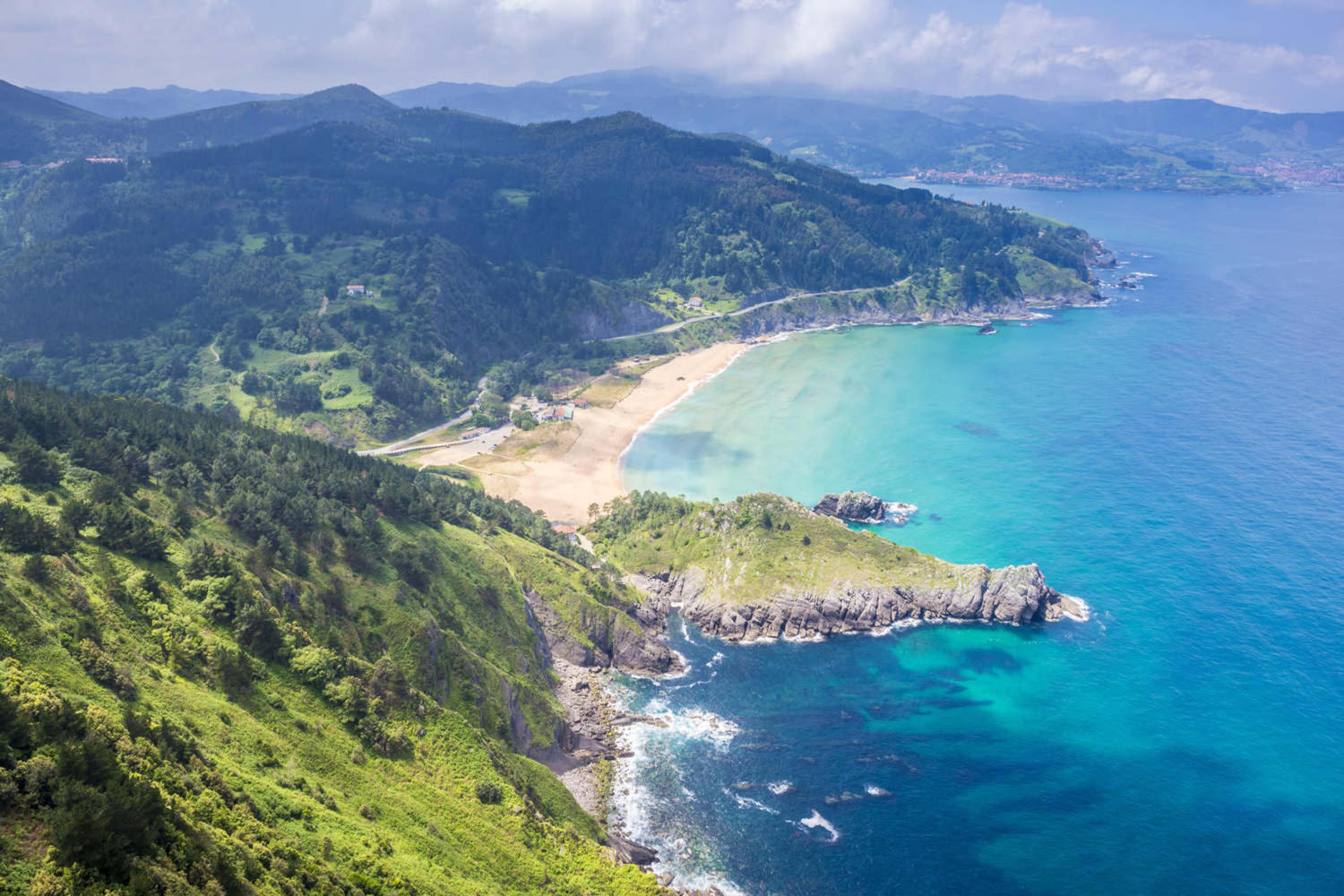 Panoramic view of Urdaibai and Cantabrian coast