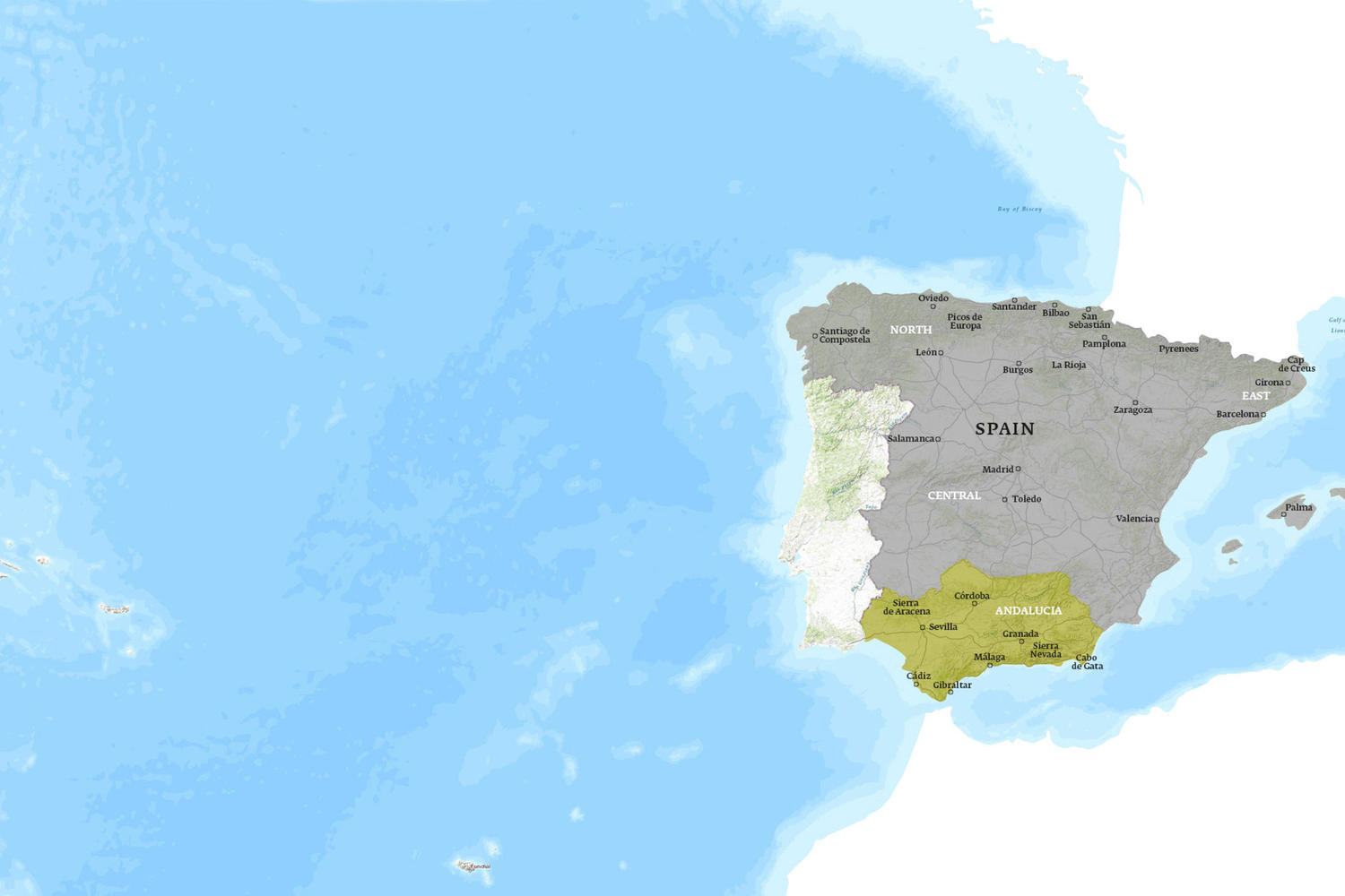 Spain When to Go Map - January
