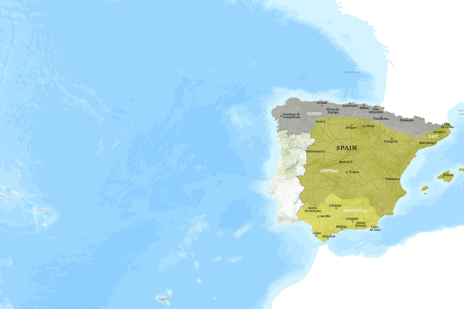 Spain When to Go Map - March