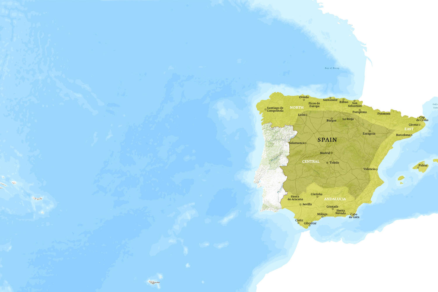 Spain When to Go Map - September