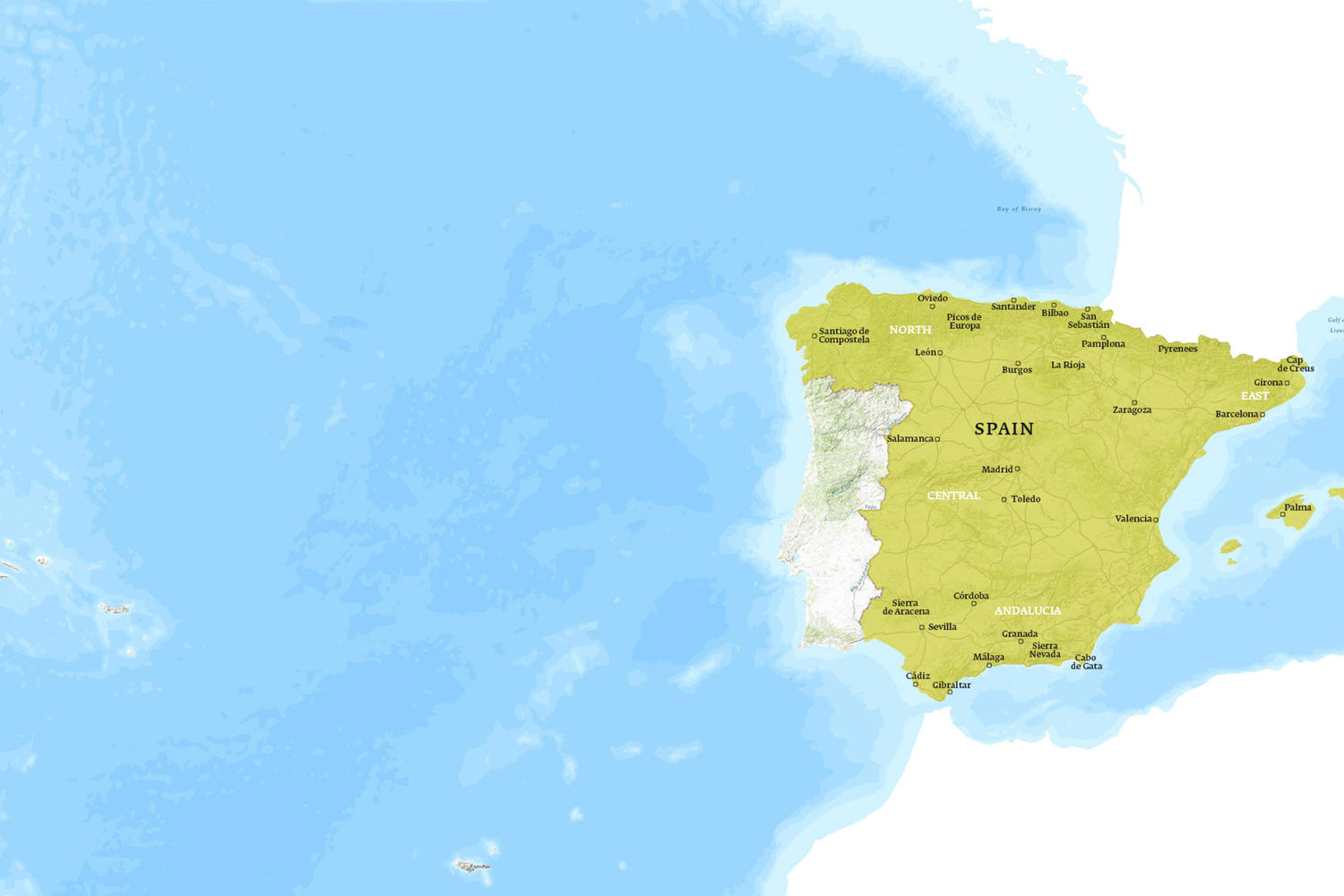 Spain When to Go Map - October