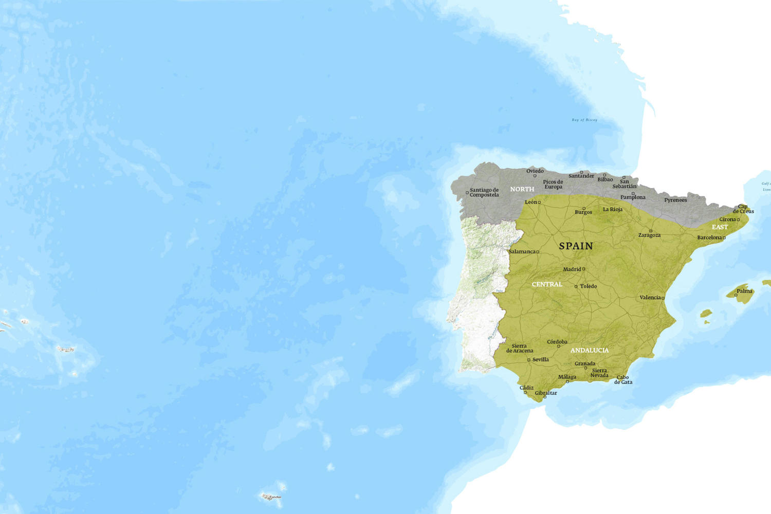 Spain When to Go Map - November