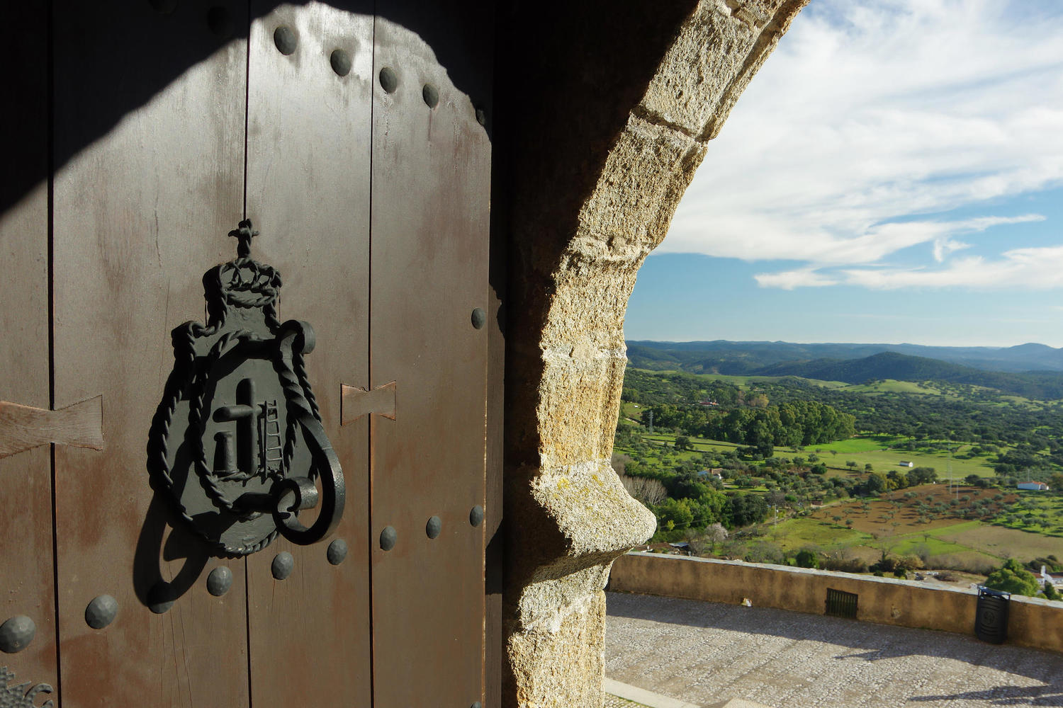 Looking out to the surrounding countryside from Aracena castle