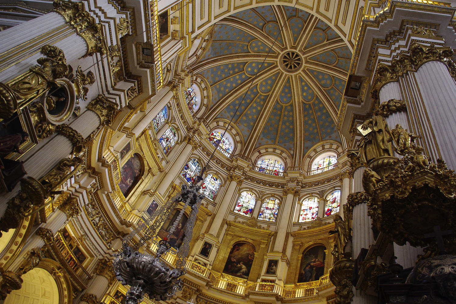 The magnificent interior of Granada's cathedral