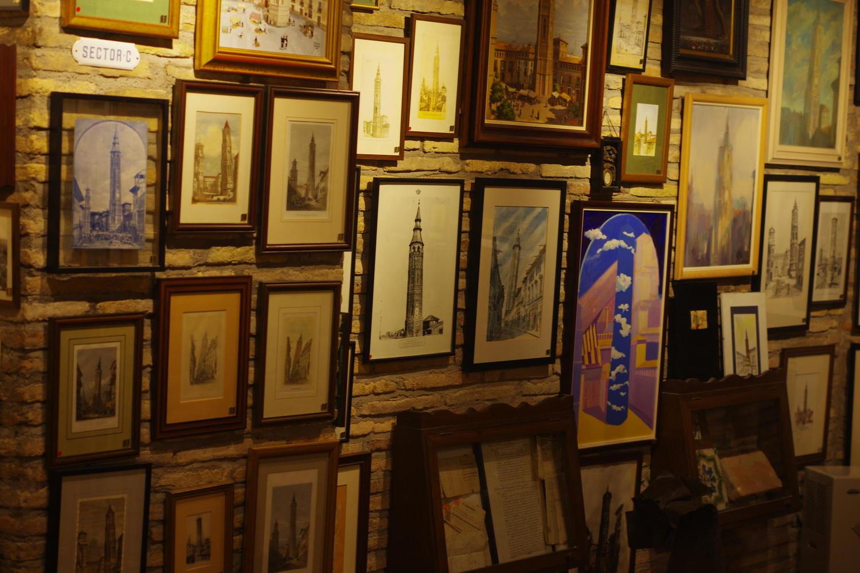 La Torre Nueva exhibition in the basement of Zaragoza's Montal cafe