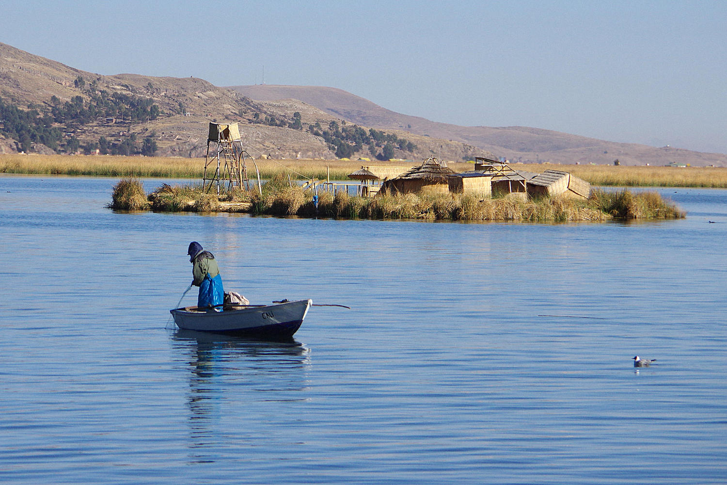 A timeless moment in the serenity of Lake Titicaca