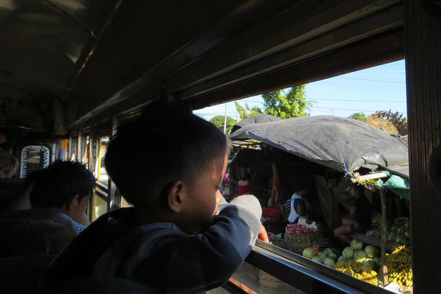 Nicaragua young boy on bus copyright emma bye pura