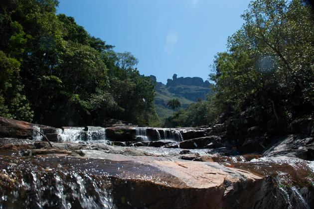Brazil bahia chapada diamantina waterfalls in pati valley