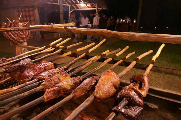 Brazil pantanal caiman lodge traditional barbecue copyright thomas power pura aventura