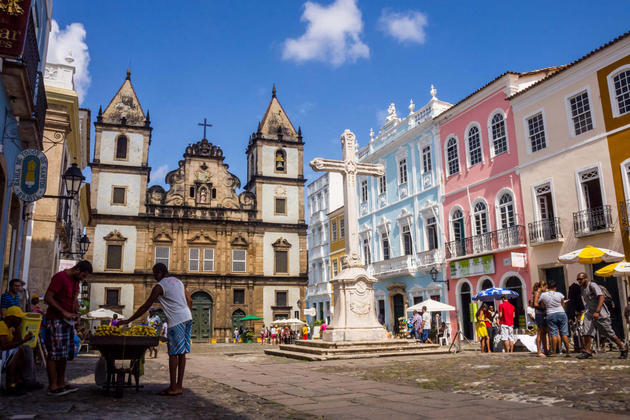 Brazil salvador horizontal photo of sao francisco church in the historical center of salvador magdalena paluchowska