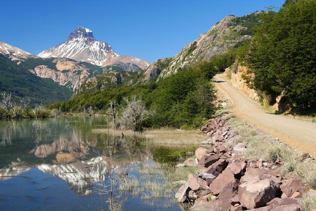 Chile patagonia carretera austral with cerro castillo paop
