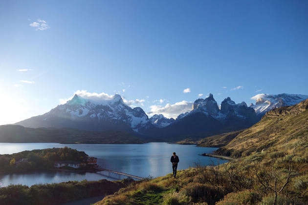 Chile patagonia torres del paine late afternoon lago pehoe