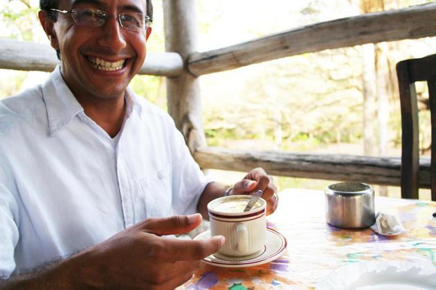 Costa rica tenorio rio perdido smiling gustavo and coffee20180829 76980 1a1j98s