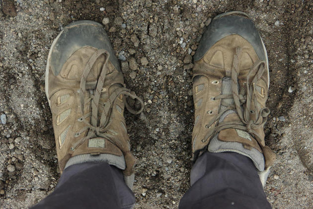 Ecuador cotopaxi walking boots hike refugio chris bladon