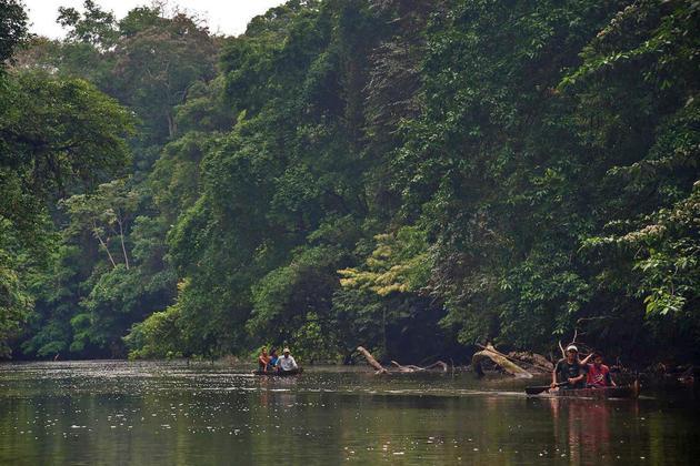 Nicaragua rio san juan indio maiz natural reserve dugout canoes