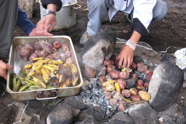 Peru andes chef cooking pachamama close up of hands20180829 76980 ybl77q